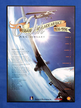 AIRCRAFT POSTER (60th Anniversary Air Race)